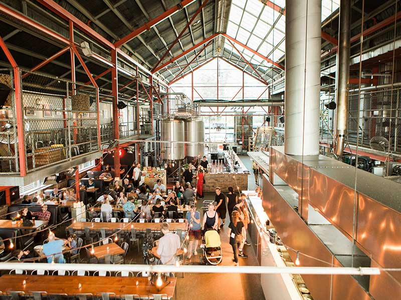 breakfast at little creatures brewery fremantle fishing boat harbour