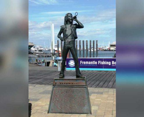 Bon Scott Statue - Fishing Boat Harbour Fremantle